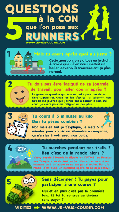 Infographie question à la con sur le running
