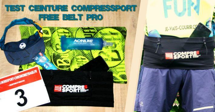 Test et avis ceinture Compressport Free belt pro pour le running trail