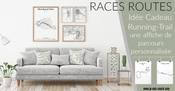 Races Routes une idée cadeau originale pour le fan de course à pied