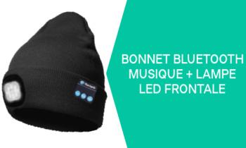 Bonnet avec lampe frontale intégrée et musique