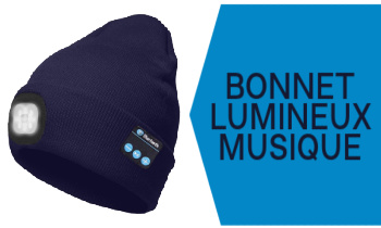 Bonnet lumineux et bluetooth