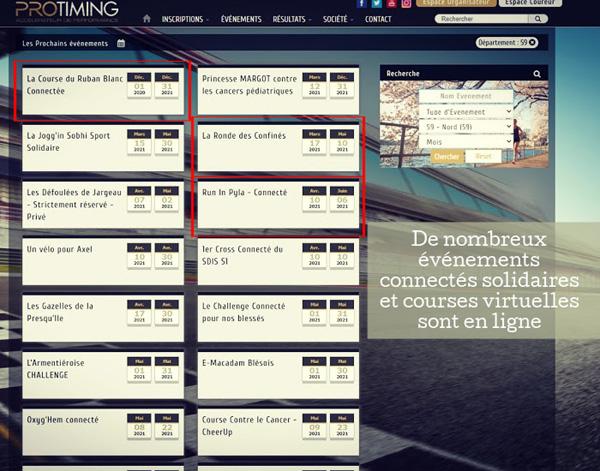 Calendrier des courses virtuelles du moment
