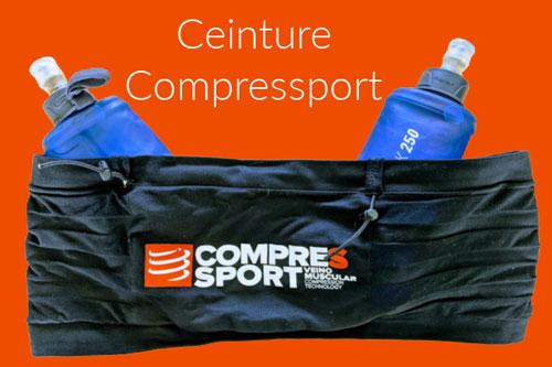 Ceinture CompressSport porte flasque gourde