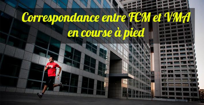 Correspondance entre FCM et VMA en course à pied