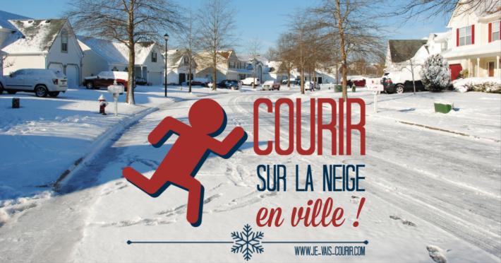 Courir sur la neige en ville et sur route