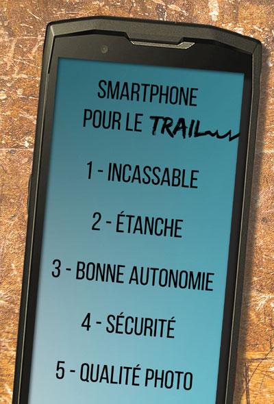 Point essentiels pour un smartphone pour le trail