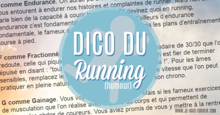 Dictionnaire du Running en 26 mots issus du jargon course à pied