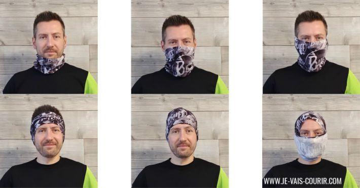 Plusieurs façons de mettre son buff en hiver pour se protéger du vent