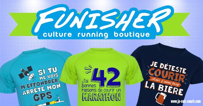 Funisher Running - Tee-shirts course à pied originaux plein d'humour
