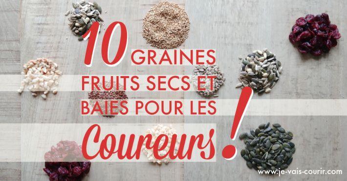 Alimentation course à pied fruits secs graines baies pour mieux courir