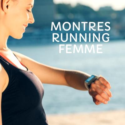 Montre running connectée pour femme
