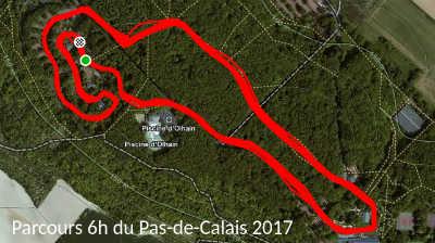 parcours 6h du pas-de-calais Olhain