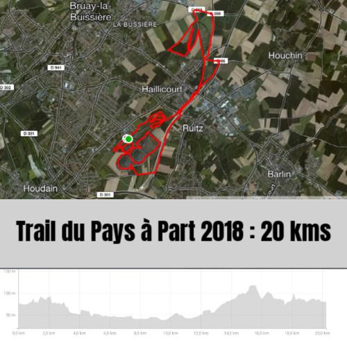 Parcours trail du pays à part à Haillicourt