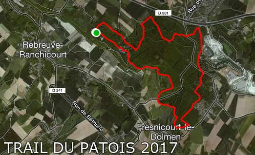 parcours trail du patois 12 km