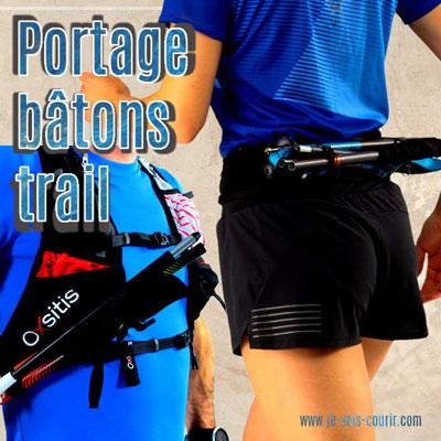 façon de porter ses bâtons de trail ou de marche nordique