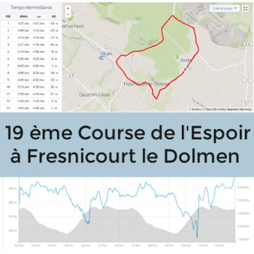 Parcours course de l espoir à Fresnicourt