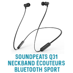 Ecouteurs blue tooth sport Soundpeats