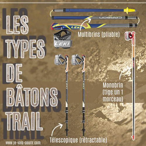 Différents types de bâton de trail