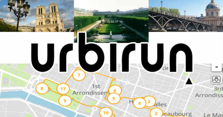 Urbirun application running pour faire une visite guidée en courant
