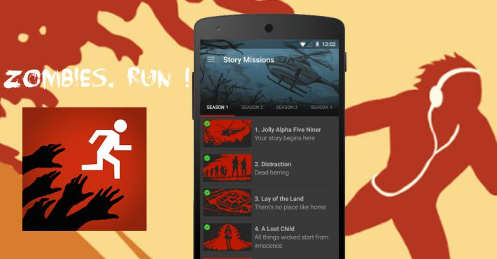 Application running Zombies Run le jeu de survie en mode course à pied
