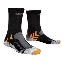 X-Socks Winter Run Chaussettes Homme, Noir, 35/38