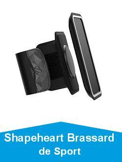 Shapeheart Brassard de Sport Magnétique avec Pochette Détachable Universelle, Téléphone XL Jusqu'à 16.7cm