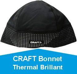 CRAFT Bonnet Thermal Brillant 2.0 Noir REFLECHISSANT Bonnet Sport