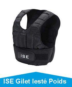 ISE Gilet lesté Poids Gilets pour Poids Entrainement Musculation Exercice 5kg 10kg 15kg 20kg 25kg 30kg, SY3002
