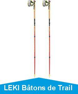 LEKI Bâtons de Trail Pro - Unisexe - pour Adulte - Rouge/Gris/Blanc/Jaune Fluo - 120
