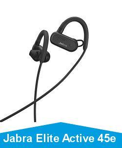 Jabra Elite Active 45e – Casque de Sport Bluetooth sans Fil Waterproof pour les Appels et la Musique – Noir