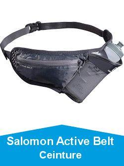 Salomon Active Belt Ceinture d'hydratation Gourde 3D 600 ml Incluse Running Trail Randonnée Unisexe