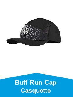 Buff Run Cap Casquette Mixte, Gris foncé, Taille Unique