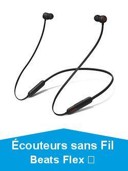 Écouteurs sans Fil BeatsFlex– Puce AppleW1 pour Casques et écouteurs, écouteurs magnétiques, Bluetooth Classe1, 12Heures d'écoute– Noir Beats