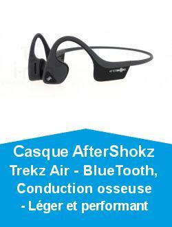 Casque AfterShokz Trekz Air - BlueTooth, Conduction osseuse - Léger et performant